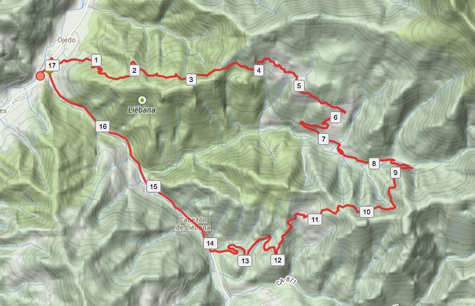 Cartográfico de la ruta